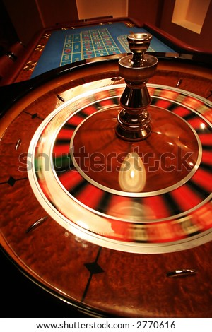 A turning roulette in a new casino