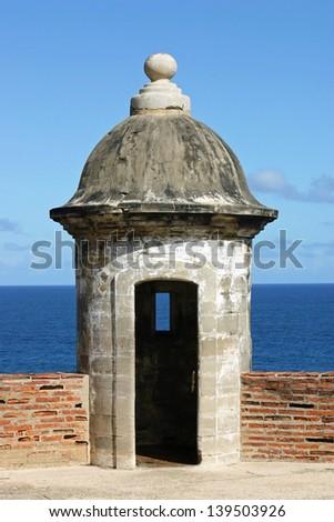 A turret in the Castillo de San Juan, in San Juan, Puerto Rico