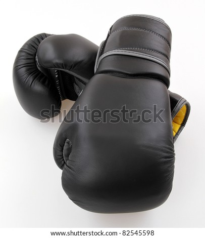 A two boxing glove on a white background.