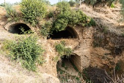 A two-level tunnel, known as the Nysa Bridge, is a late imperial Roman bridge over the Cakircak stream in Nysa ancient city in Aydin province of Turkey.
