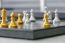 A type of board game with a long history, used to simulate a battle on the battlefield, is called chess.