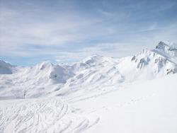 A typical Austrian white winterlandscape