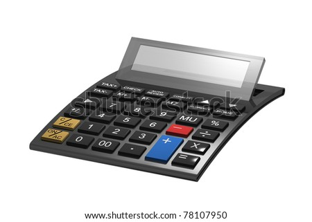 A typical calculator with space for your content