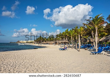 Shutterstock A typical Caribbean resort at Playa Del Carmen in Mexico.