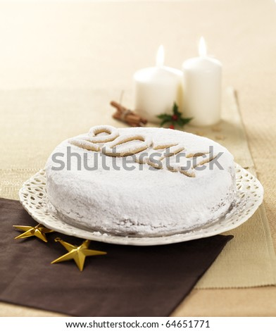 a typical greek christmas and new year cake