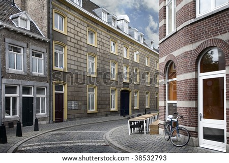 A typical residential street of Maastricht, Netherlands