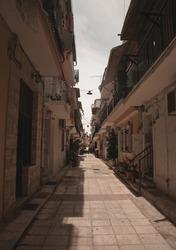A typical street in Zante Town on the Greek island of Zakynthos