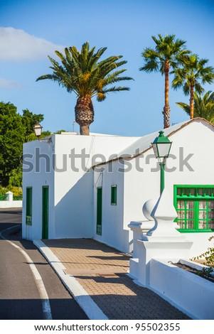 A typical summer villa. Lanzarote, Canary Islands, Spain