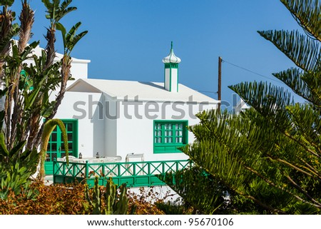 A typical summer villa. Lanzarote, Canary Islands, Spain