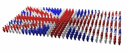 A union jack made up of lots of little stylised people