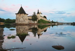 A unique architectural monument is the Pskov Kremlin (Krom), the oldest fortress in Russia in the city of Pskov on the Great River.