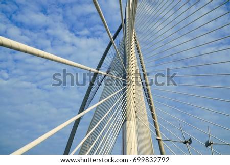 A Unique Architecture Bridge in Putrajaya, Malaysia  #699832792