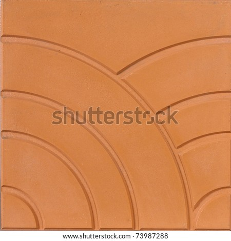 A unique design of the floor tile isolated