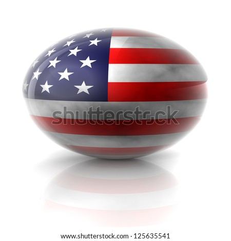 A United States grunge sphere with white background and reflection