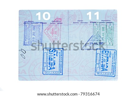 A used passport with visa stamps from Malaysia, Indonesia and Honduras.