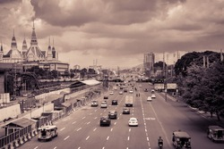 A usual day in Commonwealth Avenue, Quezon City, Philippines