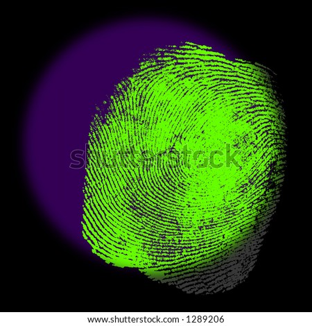 A UV spotlight Reveals the Hidden Fingerprint Evidence.
