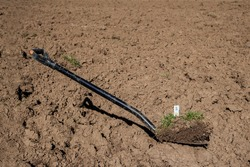 A valuable shovel. The demand for land is increasing worldwide and the purchase price for arable land has increased by an average of 187 percent over the past few years.