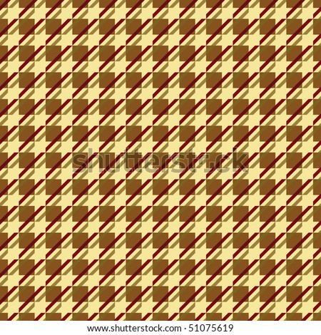 A variation of a houndstooth pattern in red and yellow.