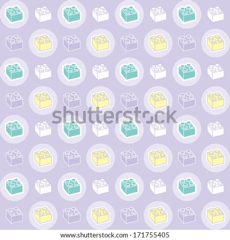 A variety of Child toy brick pattern