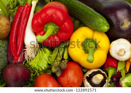 A variety of fresh and colorful vegetables.