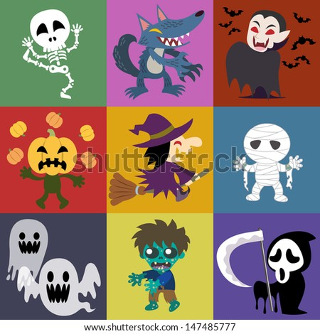 A variety of Halloween roles