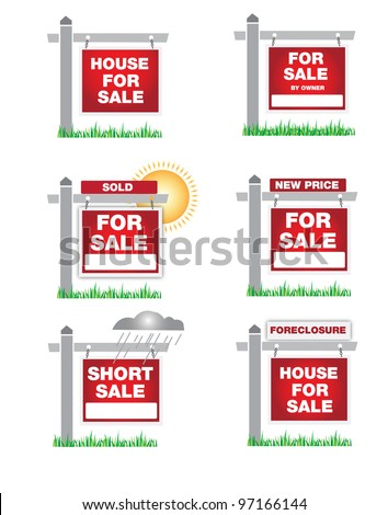 A variety of real estate icons