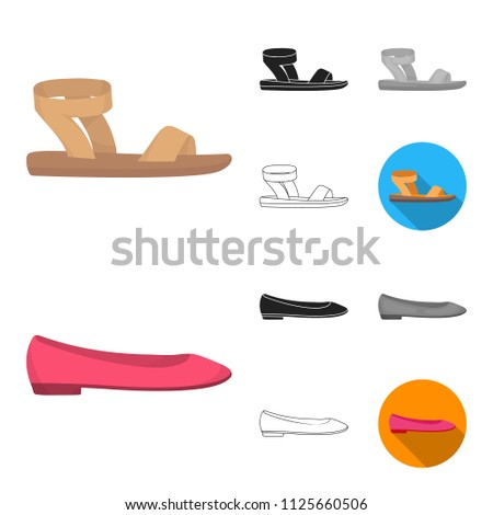 A variety of shoes cartoon,black,flat,monochrome,outline icons in set collection for design. Boot, sneakers bitmap symbol stock web illustration.