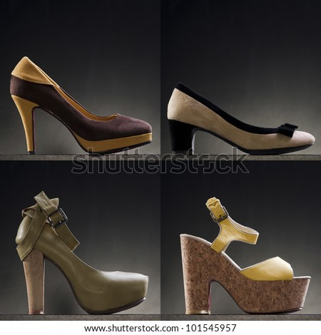 A variety of yellow heels