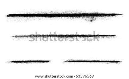 A various set of charcoal lines over a white background. - stock photo
