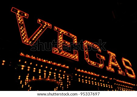 a Vegas illuminated sign at night