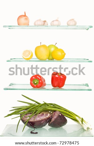 a vegetable on the refrigerator regiments