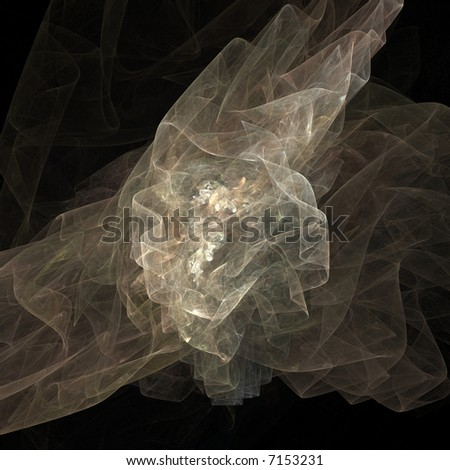 A veil on a black background