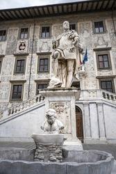 A vertical shot of Palazzo della Carovana in Pisa Italy