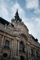 A vertical shot of the famous Museum of Art and Industry in Roubaix, France