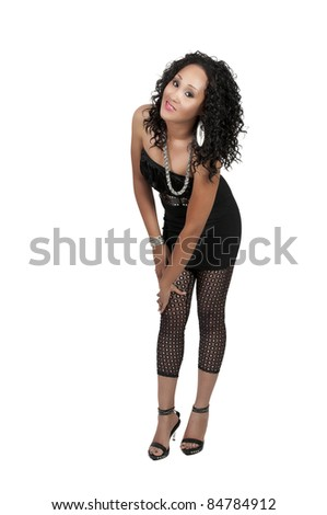 6d53414fe6b10 A very beautiful African American black woman with a big smile #84784912