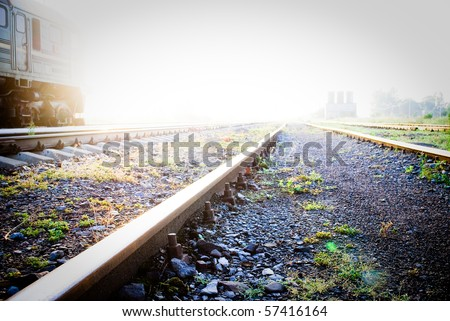 A very bright railway to heaven