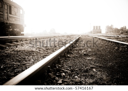 A very bright railway to heaven - sepia