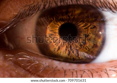 A very close pic of an eye ball taken with a telescope