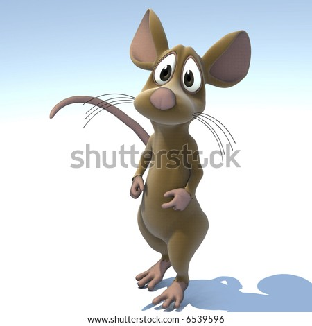 A very cute cartoon mouse made out of plush Image contains a Clipping Path / Cutting Path for the main object