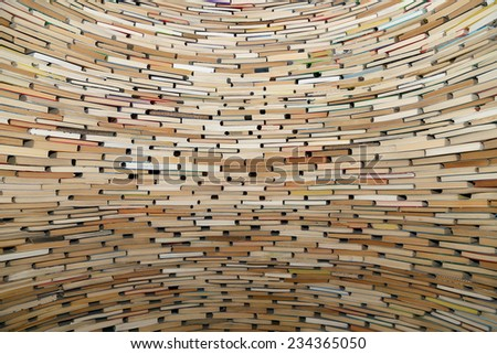 A very large stack of books, can be used as background   #234365050
