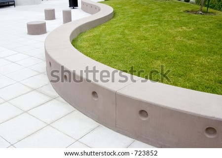 A very modern treatment to a public area.