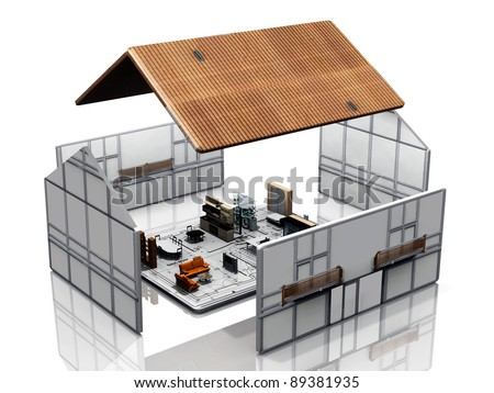 Home Design on Very Nice And Design House Stock Photo 89381935   Shutterstock