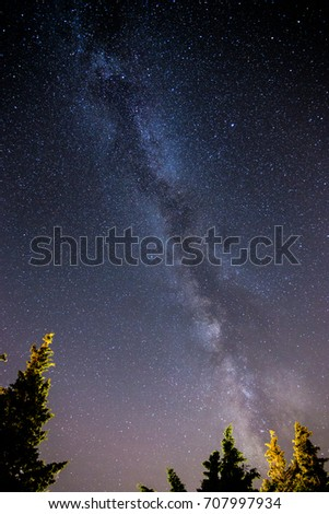A very nice vertical pic about milky way. A real pic, no illustration no computer graphic