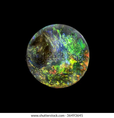 A very rare, very high quality round shape opal, which looks like a planet.