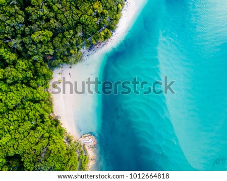 A vibrant aerial view of the beach #1012664818