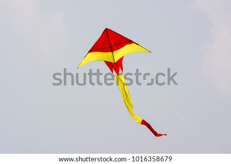 A vibrant colorful kite