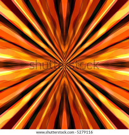 A vibrant orange, yellow, and red background illustration. - stock photo