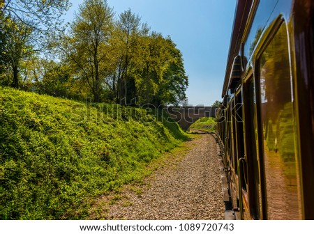 a view along the carriages of...