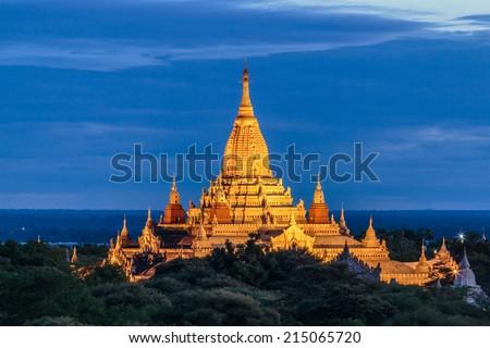 A view at Bagan old ancient temple in Bagan Myanmar , Asia